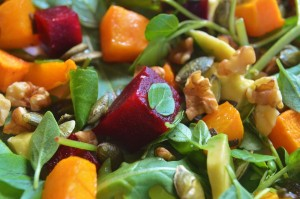 avocado, walnut, pumpkin, salad, dinner, dinner recipe, dinner ideas