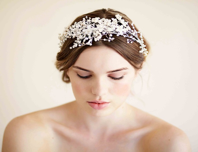 bridal garland, bridal hairpiece, bridal hairstyles, bridal headband, vintage headpiece