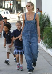 Heidi Klum and Kids with Martin Kristen in Santa Monica