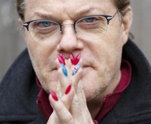 manicure, male nail art, eddie izzard