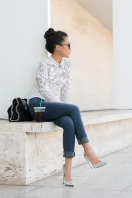 How To Style A Silk Blouse