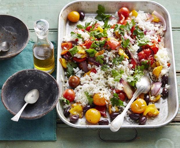 rice, salad, side salad, rice recipes, easy dinner, dinner recipes