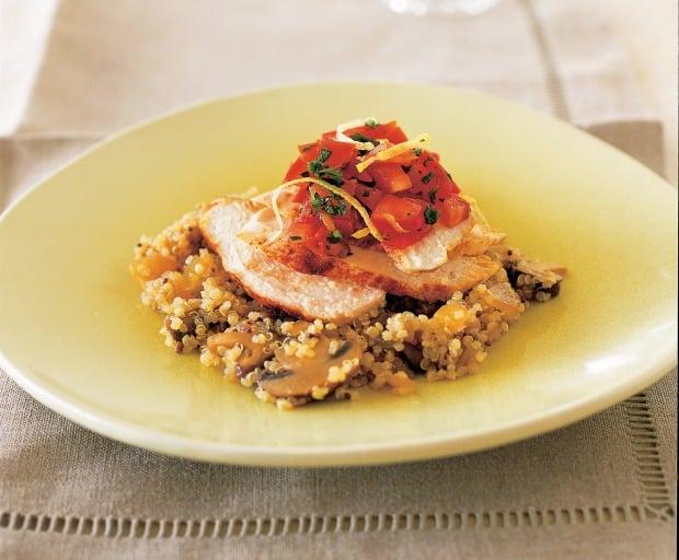 dinner recipes, chicken and mushroom, Golden Door