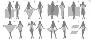 different ways to wear a sarong