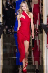 versace red dress haute couture