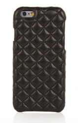 iphone 6, black, quilted leather