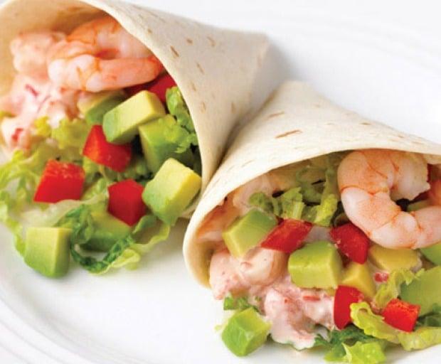 Easy Prawn and Avocado Wraps