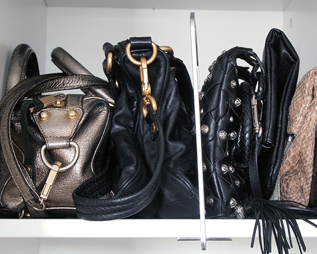 handbags shelf storage