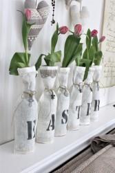 flowers easter vases