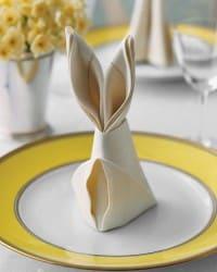 easter serviette bunny