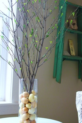 easter decoration twigs eggs
