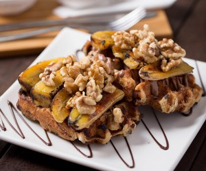 Waffles, Chocolate, Banana and Walnut Recipe, Waffles Recipe, Dessert Ideas, Sweet Tooth, Oliver Brown, Belgian Chocolate