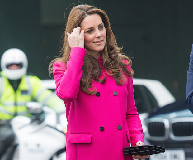 duchess, kate, pink coat, royal family, beauty, maternity style