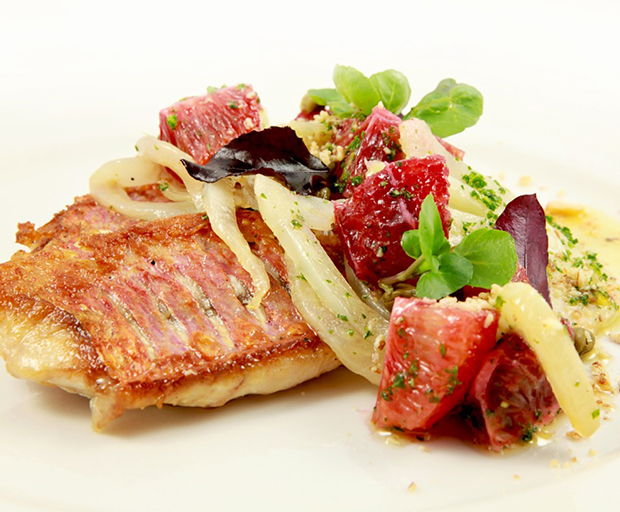 Red mullet, Fish recipes, Troy Rhoades-Brown, Muse Restaurant, Dinner Party Ideas