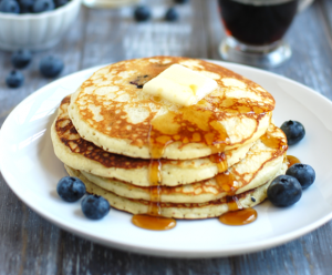Healthy Blueberry Pancakes