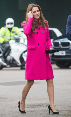duchess kate pink coat