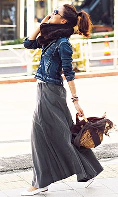 How To Style Maxi Skirts in Winter