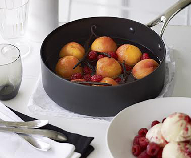Poached Peach, Dessert, Dessert Recipes, Vanilla Bean, Quick And Easy Desserts, Sweet Tooth