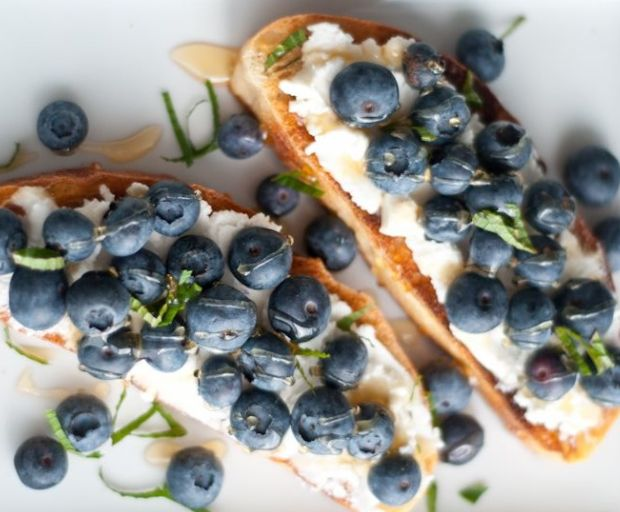Fresh Ricotta and Blueberry Ciabatta Recipe
