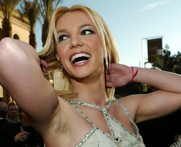 britney spear armpit hair