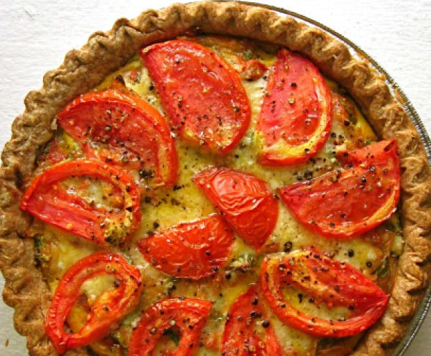 Healthy Tomato and Olive Quiche Recipe