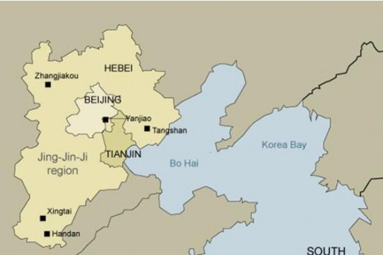 Jing-Jin-Ji, Beijing, China, supercity, megalopolis, over-crowding, air pollution, urban problems