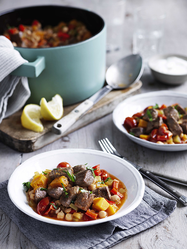 One Pot Lamb, Chickpea And Pumpkin Stew Recipe