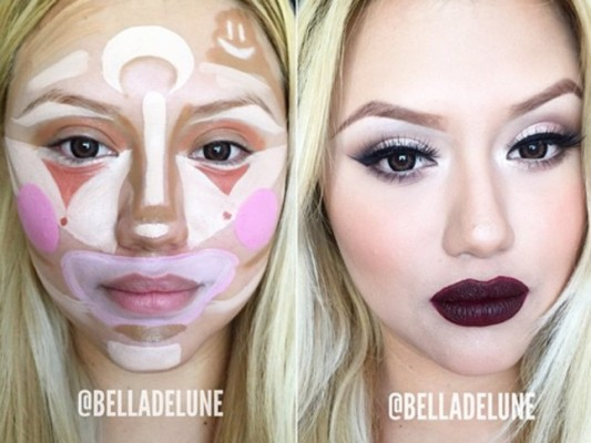Crazy New Makeup Trend - Clown Contouring
