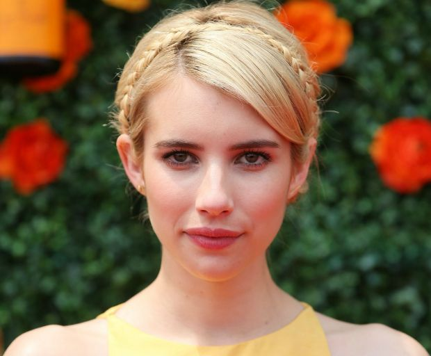 X braidsX celebrity hairstylesX emma roberts, hair tutorial, hairstyles, heat-proof hairstyles, how to, milkmaid braids, tutorial