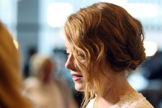 Emma Stone's Beachy Side Bun Hairstyle