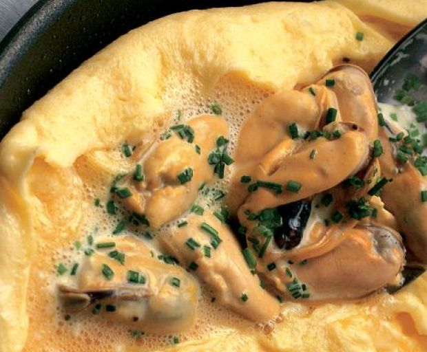 Healthy Mussel Omelette Recipe