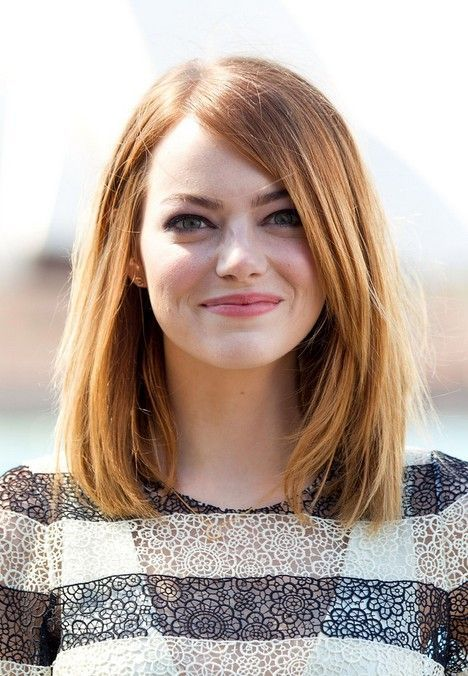 Emma Stone Long Bob Hairstyle