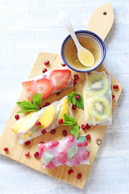 Fresh Fruit Spring Roll Ideas