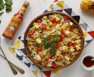 Mexican food, mexican fiesta, rice salad, spring recipes, Cholula hot sauce, spicy dishes, Mexican