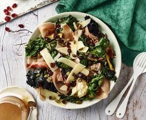 kale salad, cranberry sauce, Jamie Flemming, Master Chef, salad ideas, spring salad, kale and cranberry