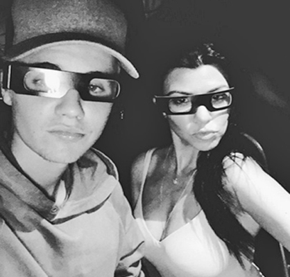 Kourt and Biebs fooling around on Instagram.