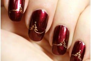 nail art, cosmetics, Christmas, festive, silly season, body art