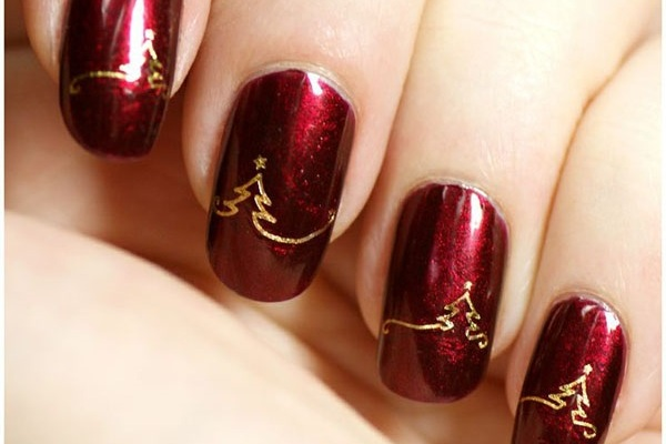 nail art, cosmetics, Christmas, festive, silly season, body art
