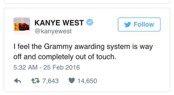 Kanye West, Grammys, Azealia Banks, racism, awards shows, Twitter