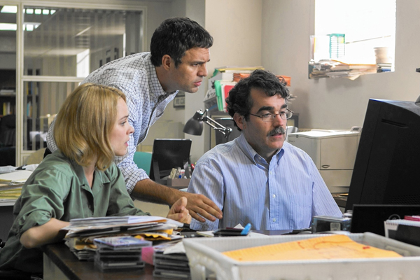 Mark Ruffalo plays investigative reporter, Michael Rezendes in the 2015 film, Spotlight.