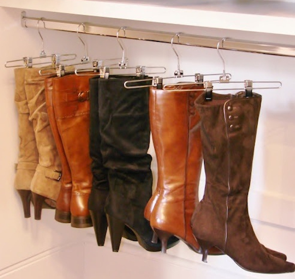 Skirt-hangers-are-great-for-keeping-boots-up-off-the-floor-and-out-of-the-way
