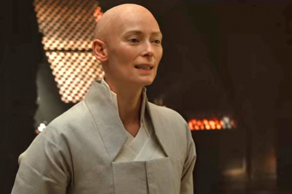 Swinton as Ancient One.