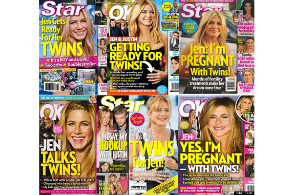 Clearly the media really, really wants Jen to be pregnant...