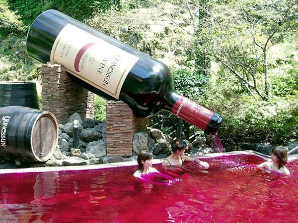 Wine Bath Japan - Pinterest