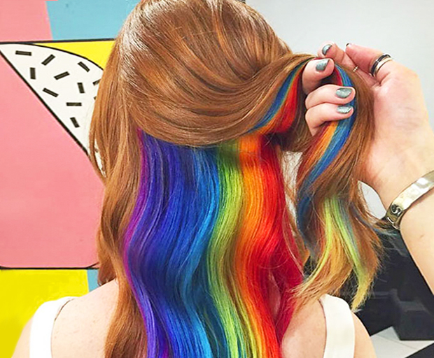Why Hidden Rainbow Hair Is The Beauty Trend You Need Right Now
