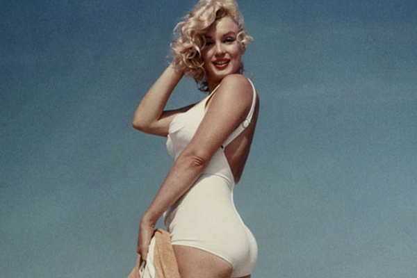 Fifties sex symbol Marilyn Monroe epitomises the optimal hourglass figure, with a wide hips-to-waist ratio.