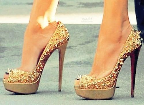 Christian-Louboutin-high-heels-studded-gold