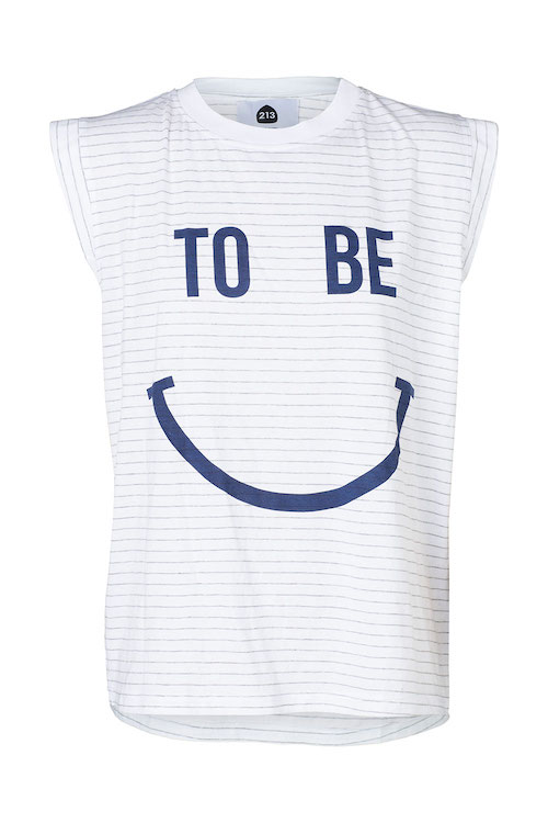 213 Apparel Downtown To Be Happy Tee – Navy + Grey Stripe (2)