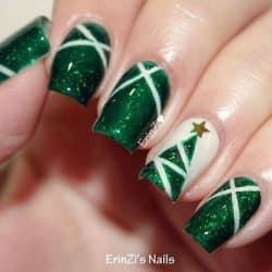 christmas nail art tree