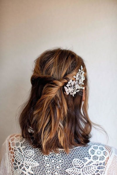 christmas party hairstyle short twist
